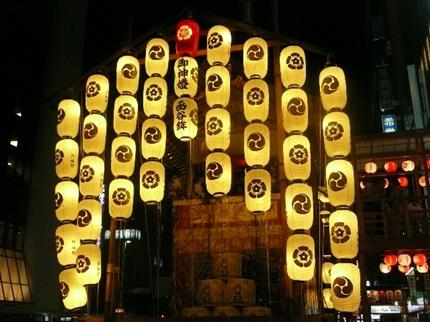 山鉾巡行のライトアップ