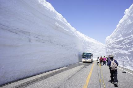 アルペンルートの雪の壁